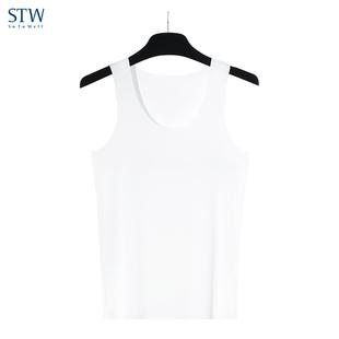 运动健身打底衫 跨栏背心宽松透气夏季 STW男士 背心莫代尔无痕无袖