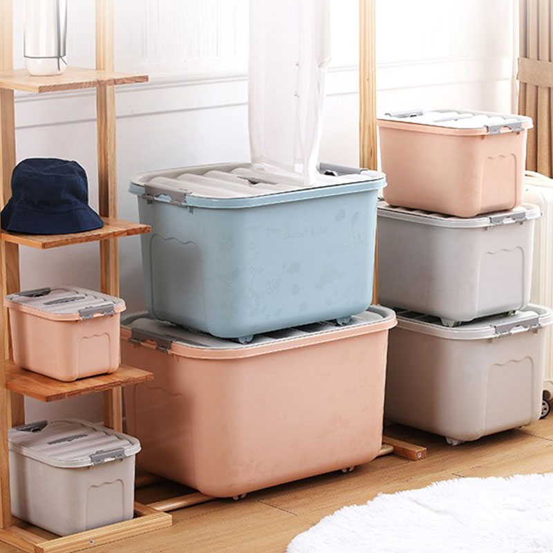 Storage box plastic extra large clothes sorting box thickened clearance large storage box covered clothes storage box