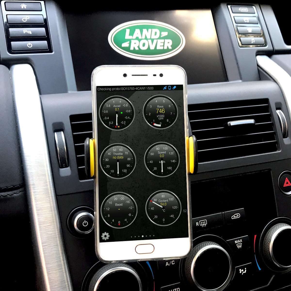 Автомобильный диагностический тестер неисправности ELM327 Bluetooth OBD2 Mini Computer Phone синий Зуб-декодер