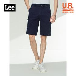 Lee都市骑士21春夏新品舒适工装风深蓝色男牛仔短裤LMR9036UZBSE