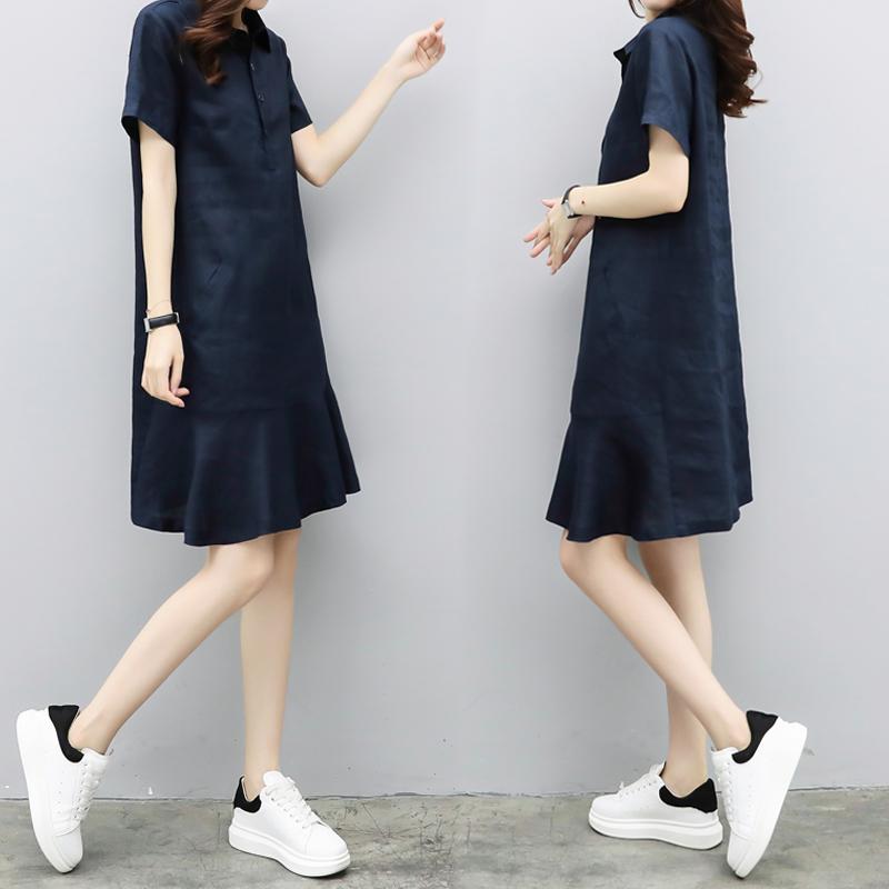 2021夏季新款气质韩版宽松夏连衣裙