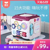 澳樂嬰幼兒玩具手拍鼓嬰兒拍拍鼓六面體益智音樂寶寶早教0-1-3歲