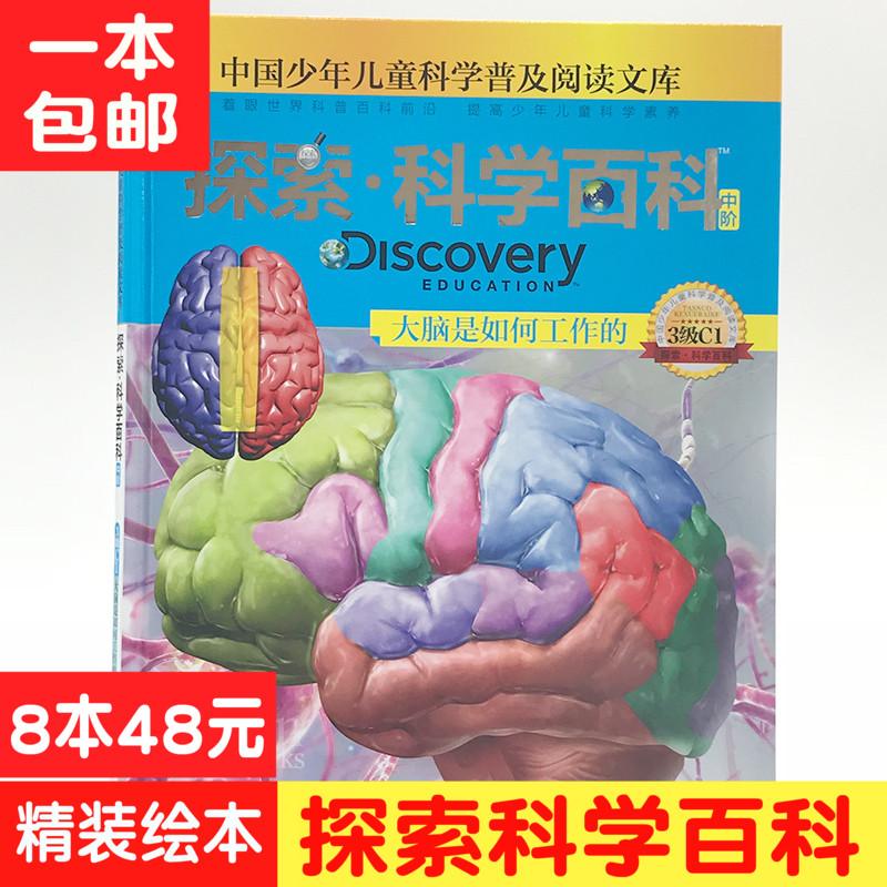 大脑是如何工作的 探索科学百科(中阶)3级C1 科普书籍儿童科普6-12-10-15岁少儿科普书十万个为什么小学版二三四五年级课外读物