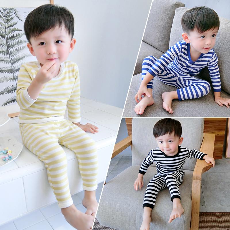 Ребенок пижама осень ребенок домой костюм длинный рукав 1 один 3 лет мужчина осень мальчиков тонкий демисезонный дети мужчина 24