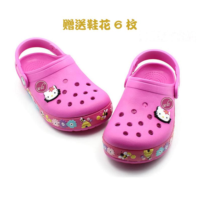 闪灯儿童凉鞋男童女童洞洞鞋宝宝沙滩鞋学生小中大童凉鞋特价清仓