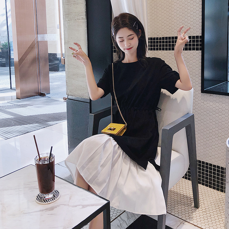Small fresh lotus leaf summer 2020 New Girl Skirt ins super hot cool wind dress looks thin and simple