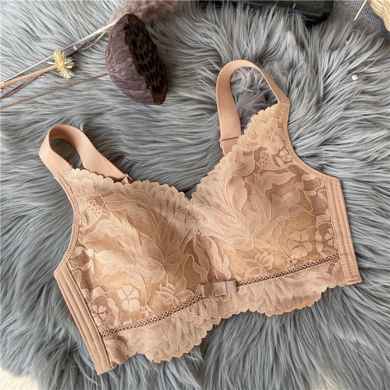 袔苡莥瘦胸秘笈收副乳超薄BCDE大码无钢圈bra内衣全罩杯大胸显小