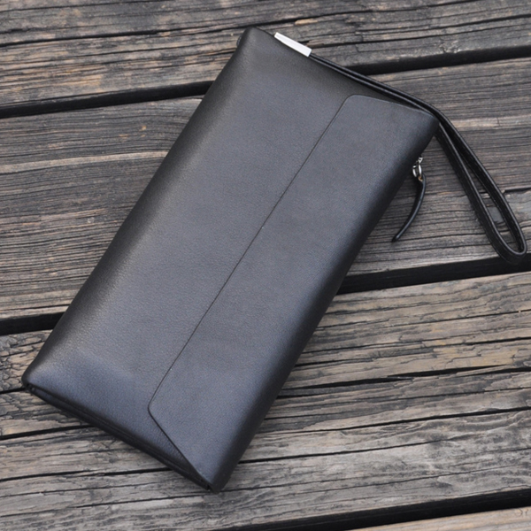 Genuine new style mens multi card fashionable mens wallet leather simple mens handbag long leisure wallet leather handle