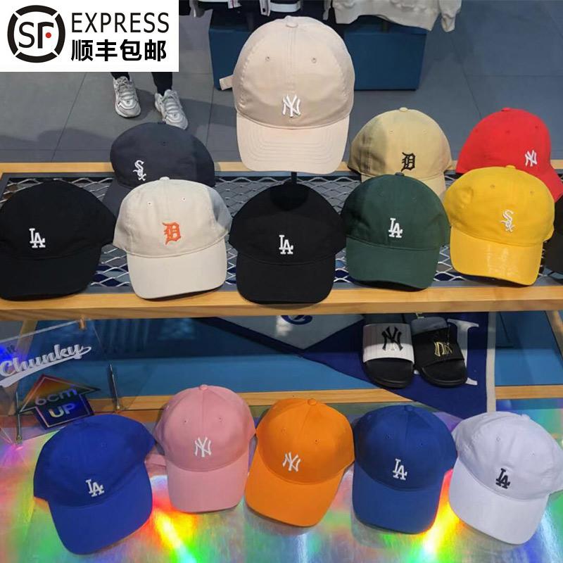 韩国正品MLB棒球帽小标正品采购新款男女同款鸭舌帽NY洋基帽子LA