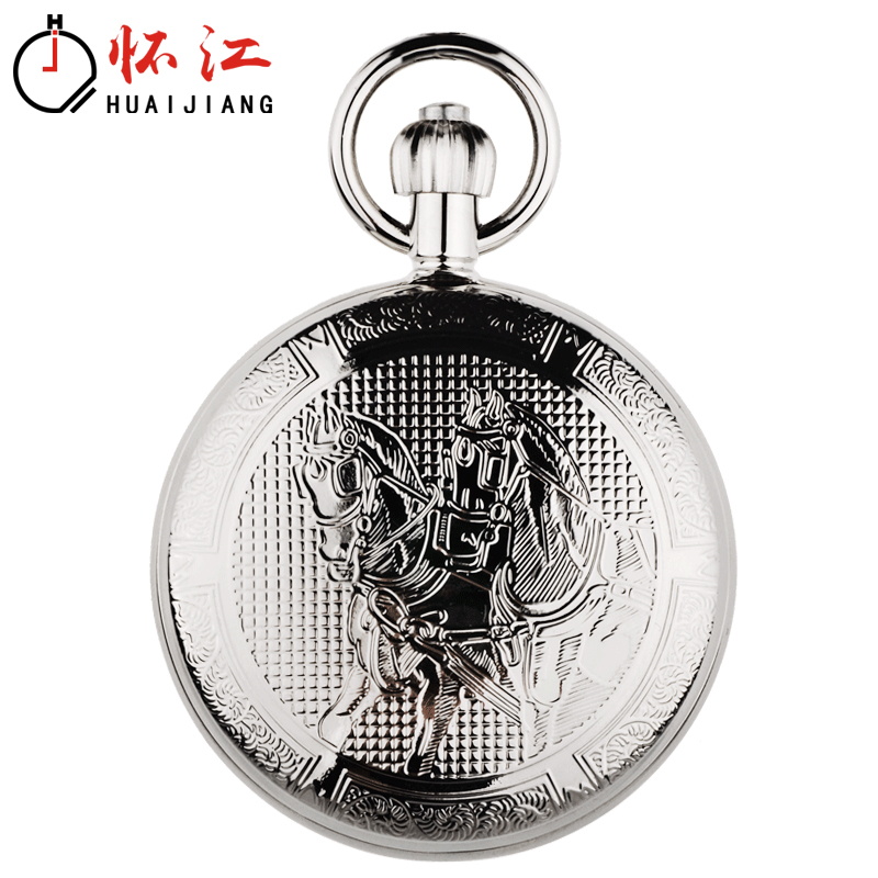 Ma Zhicheng: metal copper automatic movement, mechanical pocket watch, old Shanghai Wall watch, men and womens Retro flip photo DIY