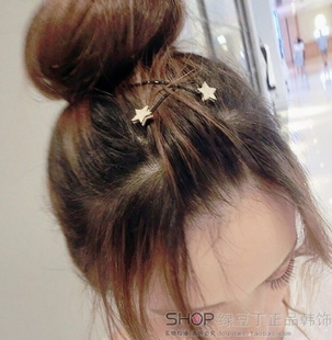 韓國東大門進口可愛星星精緻劉海夾小邊夾側邊夾子頭夾髮夾一字夾