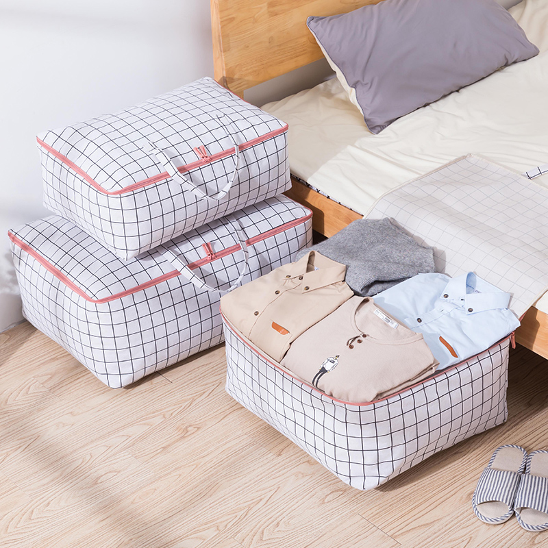 喜家家收纳袋棉被被子袋子衣物牛津布被子防尘袋棉麻棉被打包袋
