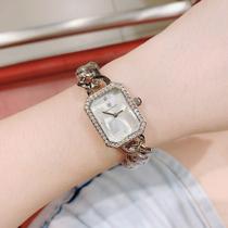 时尚欧洲站休闲小香手表金属手链玫瑰金女表C家同款石英表包邮