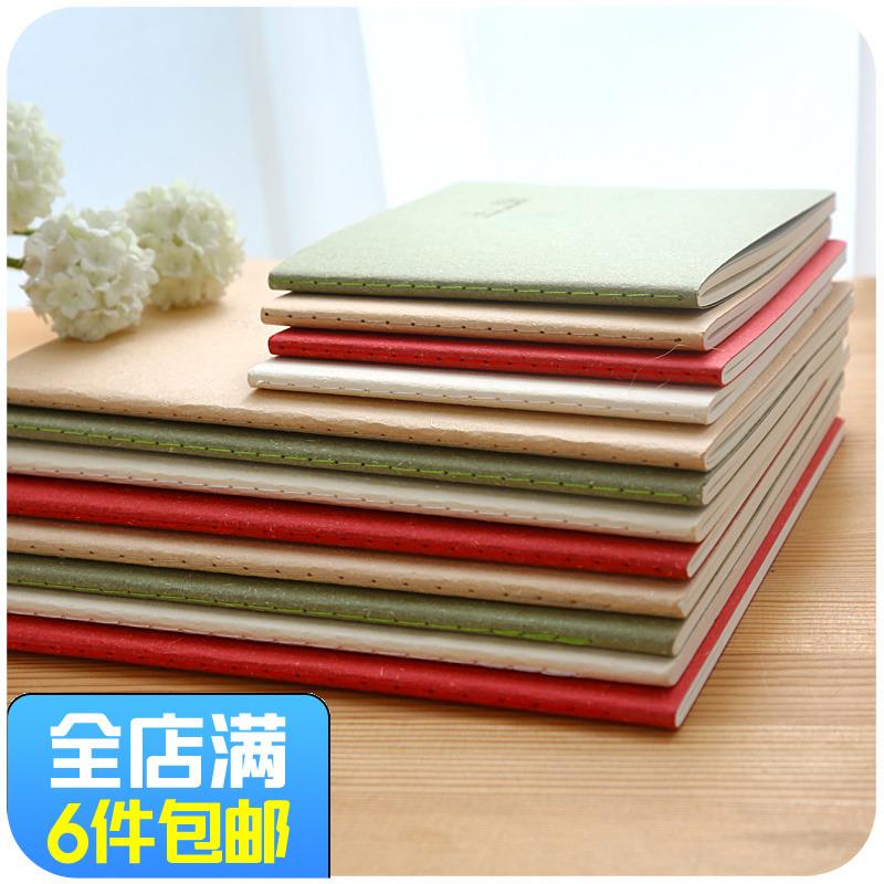 纯色简约牛皮本 默默爱韩国文艺笔记本 空白内页便携小本子记事本
