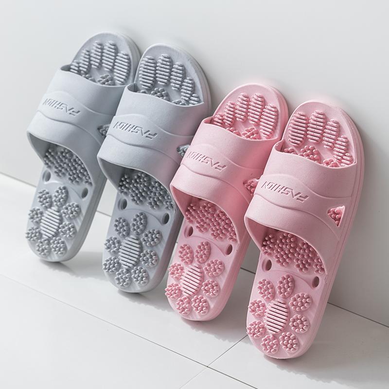 女士家用四季家居室内情侣按摩拖鞋