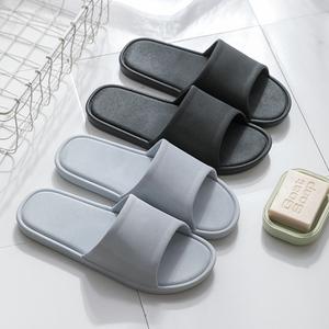 日式家居拖鞋男夏室内浴室洗澡防滑情侣家用塑料软底防臭凉拖鞋女