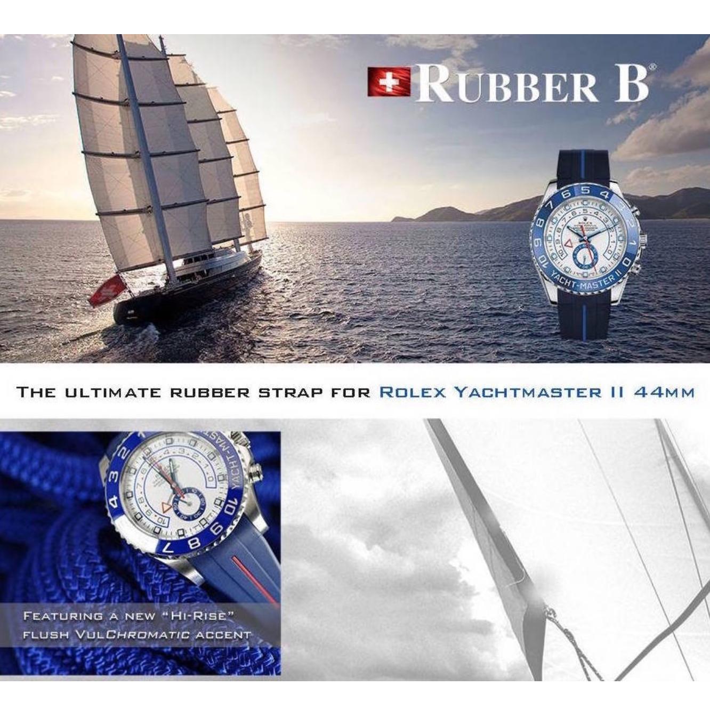 Rubber B/游艇II橡胶表带/无扣/需配原扣