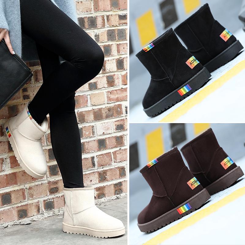 雪地靴女学生百搭秋冬季防水韩版短筒女靴保暖棉鞋子加绒加厚短靴