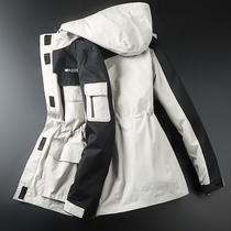 户外冲锋衣女潮牌三合一两件套可拆卸防水防风韩国登山滑雪服外套