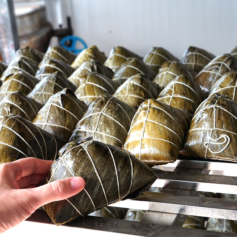 Guangxi zongzi Hengxian Lingshan specialty pork mung bean salty zongzi local delicacies and snacks old-fashioned traditional handmade 300g