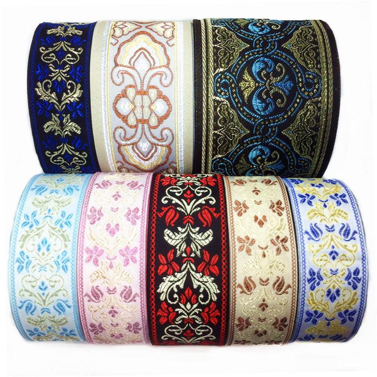 簡単に花を提げて帯域幅のソファーの布芸のレースの民族風の服装のアクセサリのカーテンを編みます。