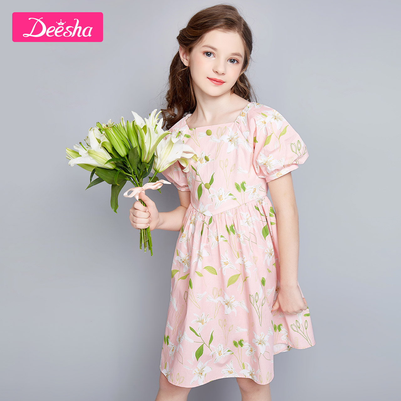 Desa children's dress girl's dress summer dress 2020 new style children's Princess Dress bubble sleeve children's dress