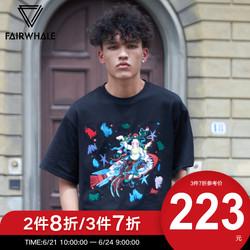 马克华菲×8ON8飞天敦煌系列短袖T恤男士2019秋季新款商场同款