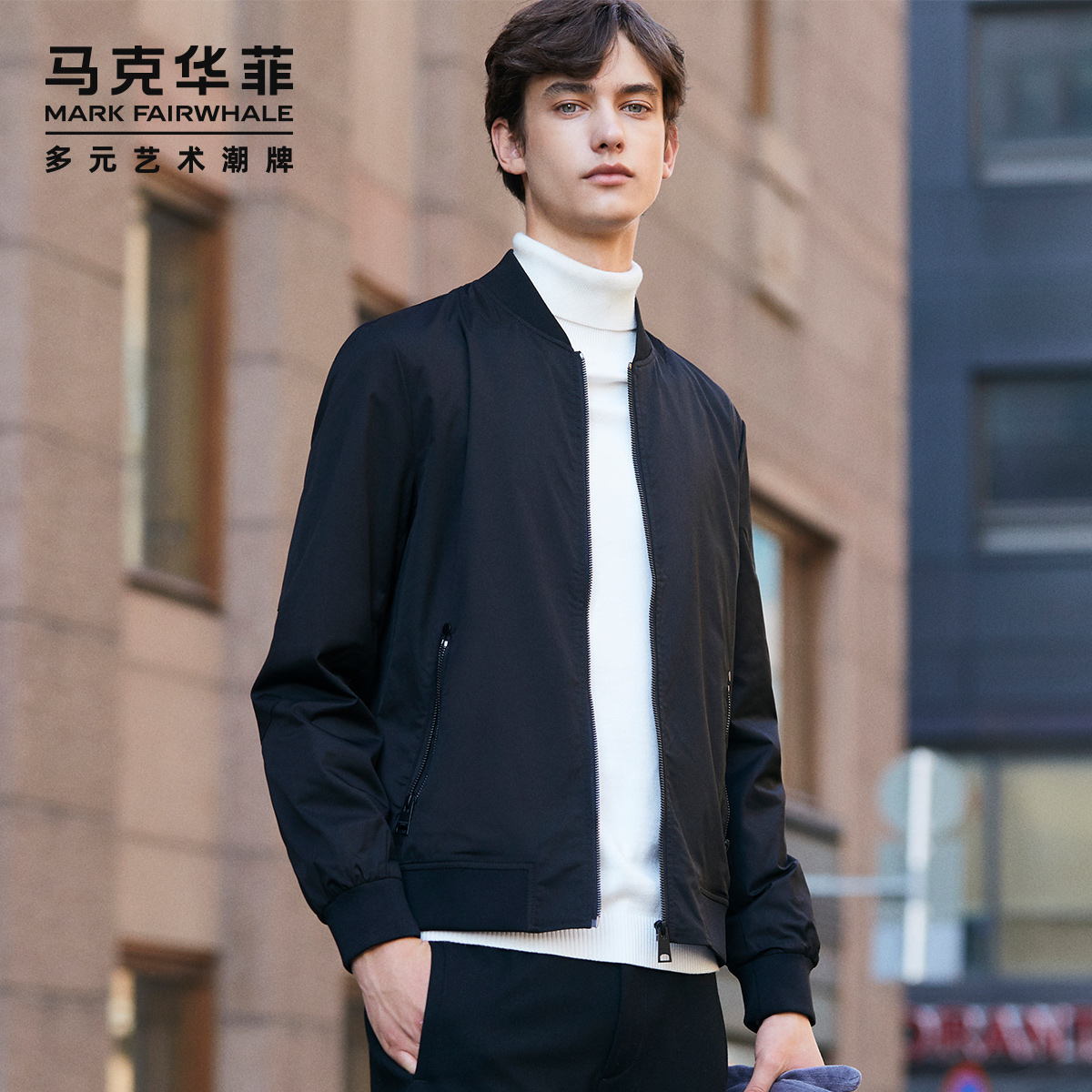 马克华菲男春季韩版潮棒球服夹克