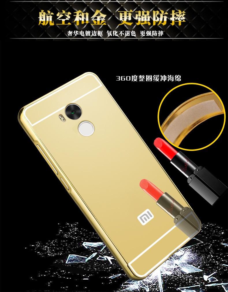 边框镜面手机壳RED4S全包防摔保护套厂家直销代发红米4高配版金属
