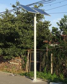 两块双太阳能电池板光伏组件法兰式立杆柱子路灯杆管配套固定支架