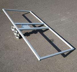 两块双太阳能电池板光伏组件抱杆式立杆柱子路灯杆管抱箍固定支架