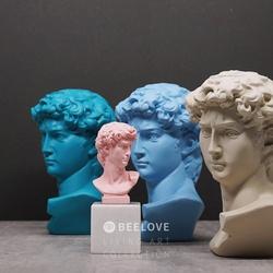 大卫雕塑摆件北欧艺术人像树脂饰品样板房书房软装装饰大号雕像