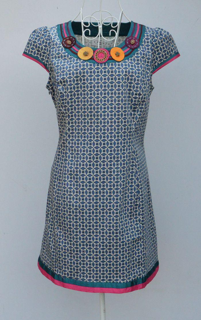 日月坊换标夏季新款修身圆领短款日常小碎花改良大码旗袍连衣裙