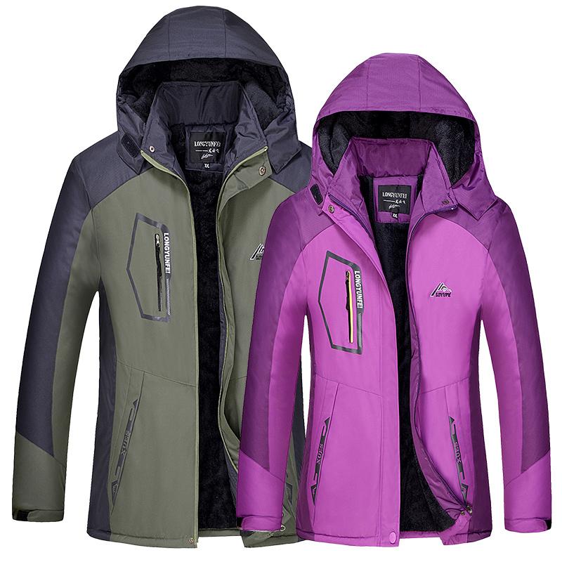 冬天加绒加厚冲锋装外套男女情侣保暖工作衣服外套防风防雨风衣潮
