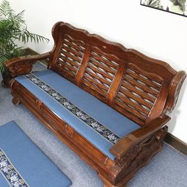 四季通用红实木沙发垫新中式古典家具木质单三人组合沙发坐垫定做