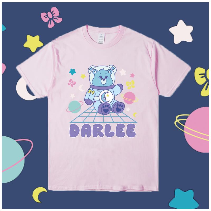 billkong可爱小熊慵懒风情侣款t恤