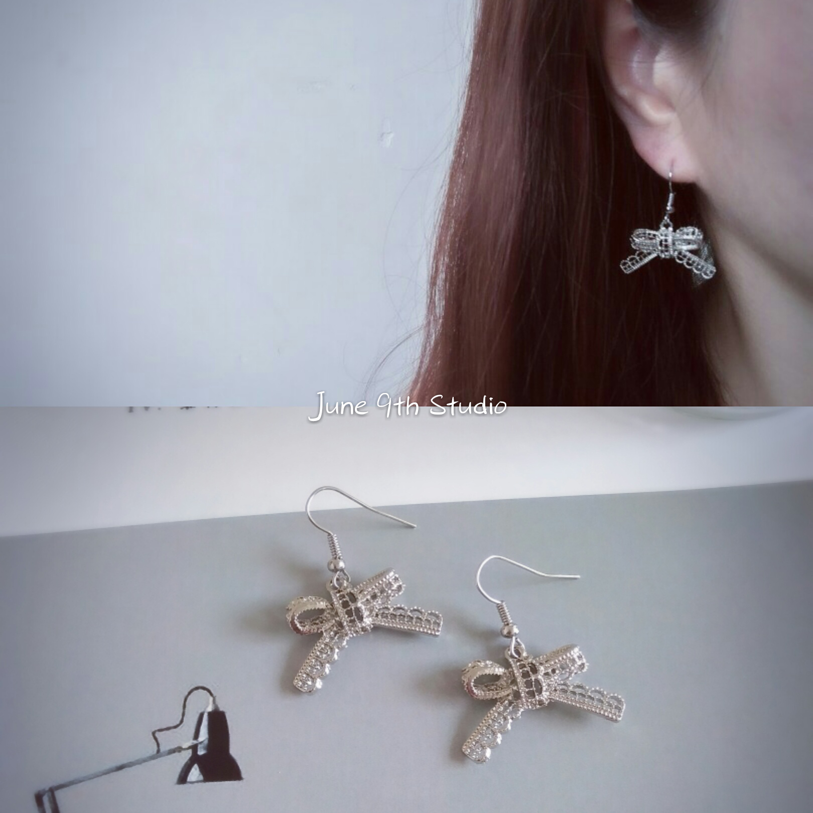 [clearance] Japanese and Korean new style cool and simple style hollow out butterfly earrings and Earrings