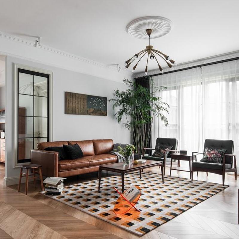 北欧loft工业风皮沙发办公三人皮艺沙发高端商业场所全屋家具定制