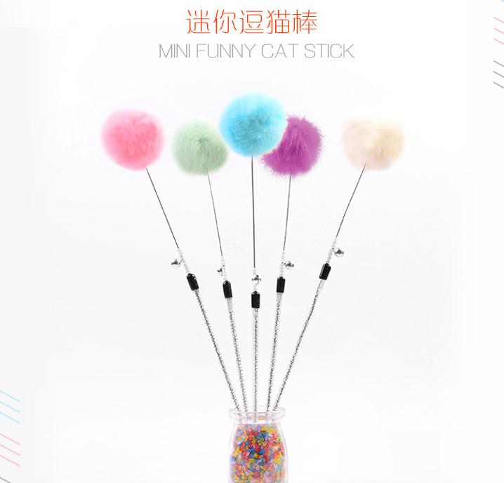 Кот [萱-] китти превышать любовь цвет кролик мышонок дразнить кот палка кот игрушка кроличья шерсть мяч цвет в соответствии с ситуацией