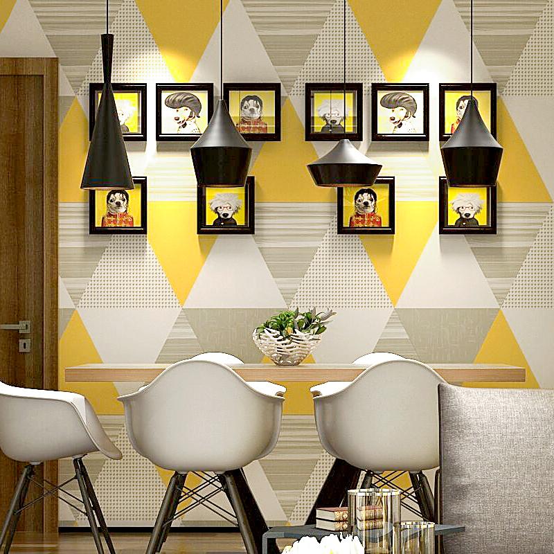 Нордический стиль стена бумага ins современный простой геометрия сетка коробка корея гостиная спальня телевидение фон обои