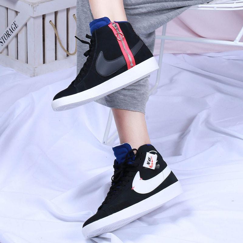 满99元可用5元优惠券Nike/耐克  女子中帮拉链解构复古休闲鞋 BQ4022-005-101 AV