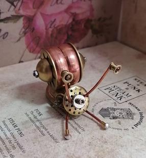 蒸汽朋克機械昆蟲可愛小蝸牛純手工製作全金屬小工藝品創意擺件