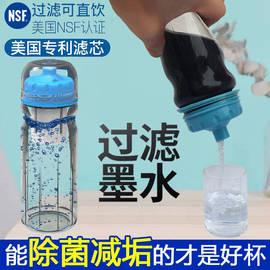 自然井便携净水器净水杯过滤器滤芯家用自来水净化器净水壶滤水器图片