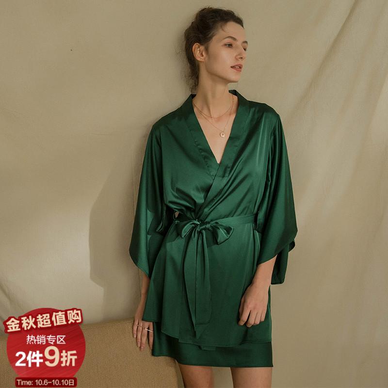 维纳斯祝福春夏睡袍性感法式晨袍(非品牌)