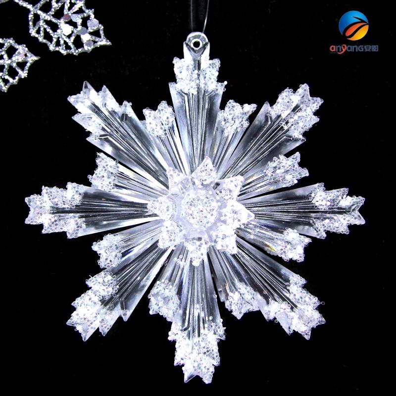 圣诞节立体雪花婚礼舞台雪花背景装饰品道具 三层亚克力雪花钻石