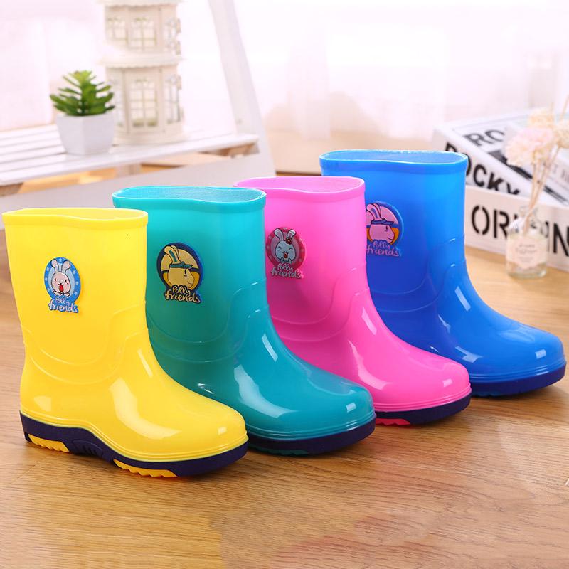儿童雨鞋1-3岁宝宝雨靴男童女童幼儿胶鞋2小孩防滑水鞋小童小学生