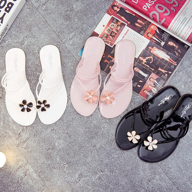 2018夏季新款時尚人字套趾女鞋涼鞋平底沙灘夾腳涼拖韓版學生鞋潮