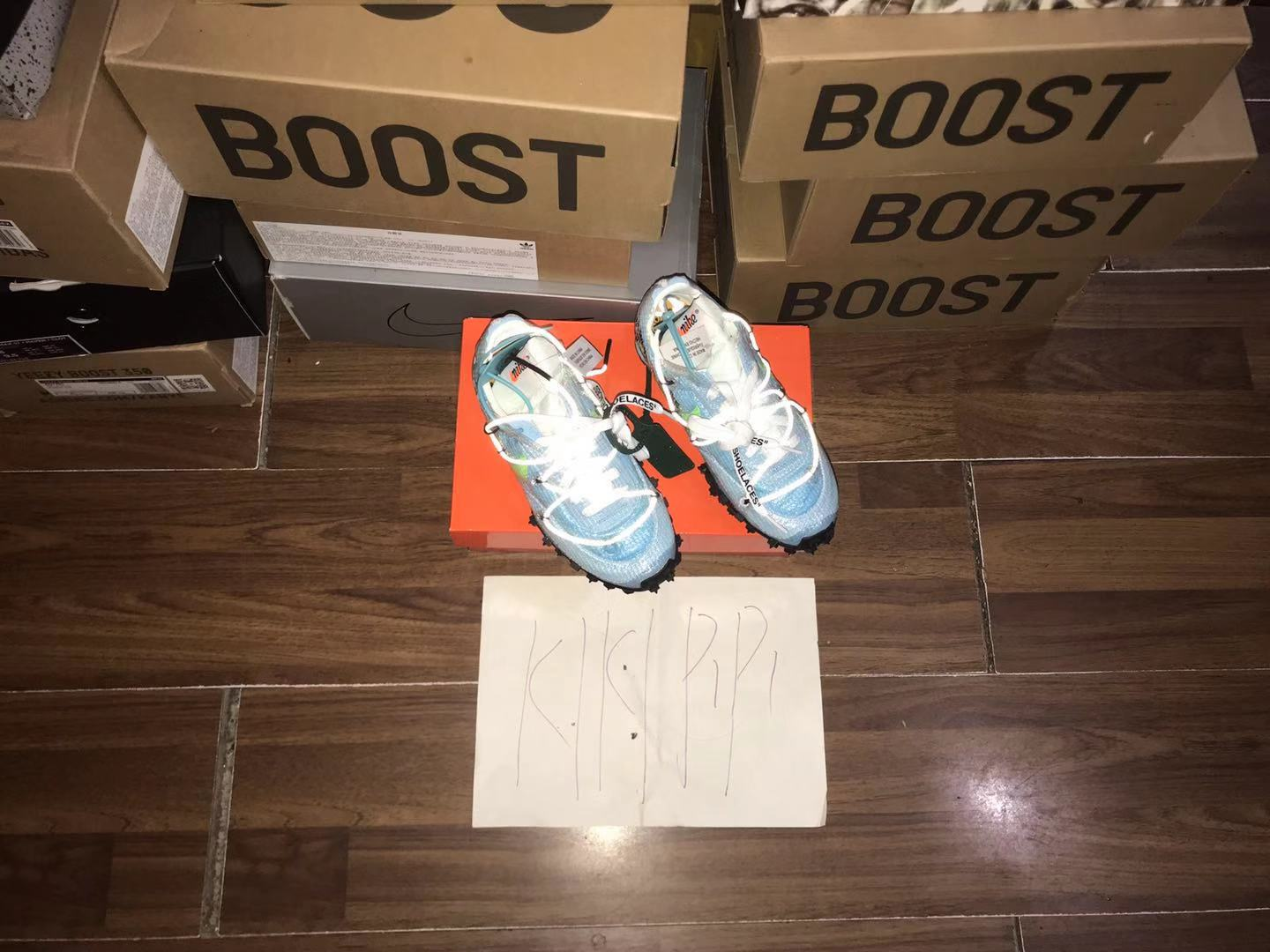 OFF-WHITE x Nike Waffle Racer OW联名黑粉 钉子跑鞋 CD8180-001
