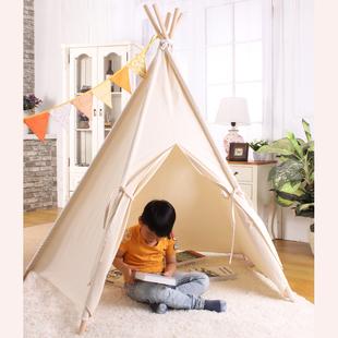 印第安兒童帳篷純棉布室內遊戲屋北歐ins爆款兒童房裝飾攝影道具