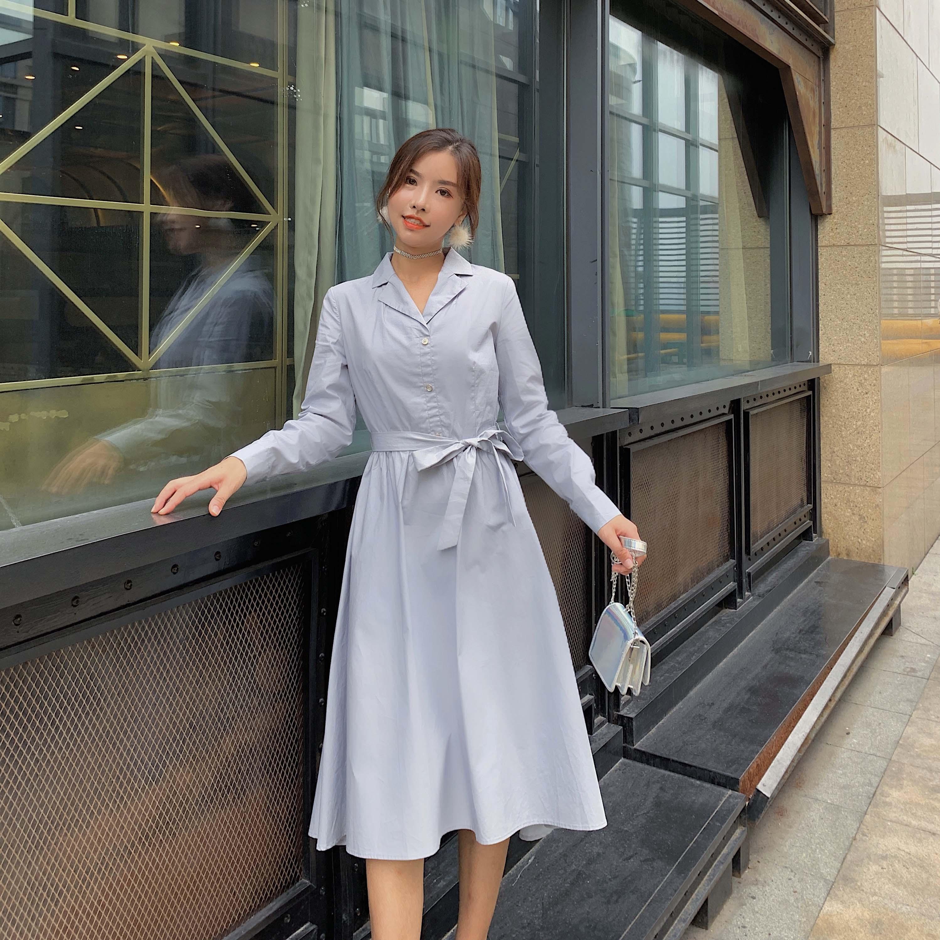 Hepburn 2020 new style long sleeve slim French retro dress fashion temperament show thin trend womens dress